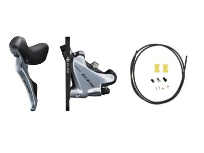 Shimano 105 STI og hydraulisk bremsegreb venstre sølv - ST-R7020L og BR-R7070F
