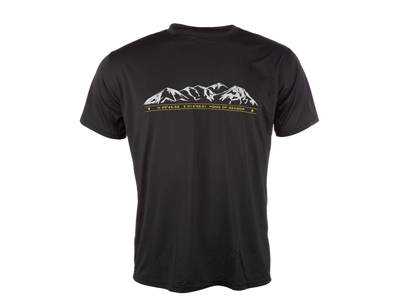 Sensor T-shirt Mountains - korte ærmer - PT Coolmax Fresh - Sort