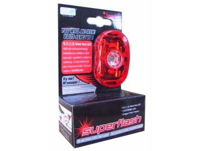 Cykellygte Smart Superflash rød med batteri - Testvinder