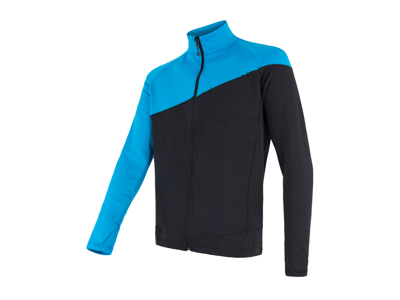 Sensor Tecnostretch FZ Jacket - Fleecejakke - Herre - Blå/Sort