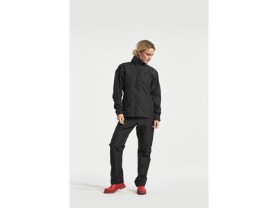 Didriksons Grand Womens Jacket - Dame regnjakke - Sort