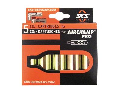 CO2-patron till Air Champ -  Utan gänga -  5 st x 16 gram
