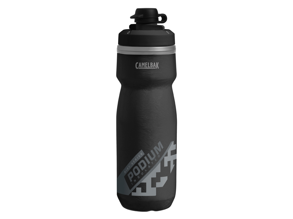 Camelbak Podium Chill Dirt - Vattenflaska 620 ml - Svart - 100% BPA fri