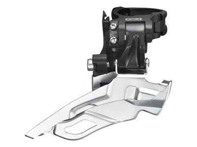 Forskifter Shimano Deore 3 x 10 gear til sadelrørs montering - Sølv