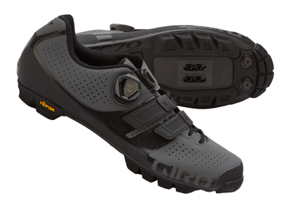 Giro Code Techlace - MTB Bike Shoes - Dark Shadow / Black