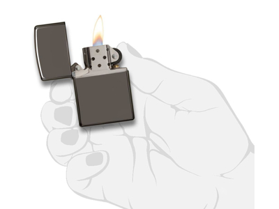 Zippo Black Ice - Lighter - Sort/sølv