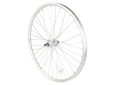 """Rodi 26"""" MTB baghjul - Skorpion fælg - 19-559 - Skruekrans - Fælgbremse - QR - Sort/sølv"""