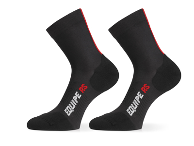 Assos RS Socks - Cykelstrømpe - Sort/rød