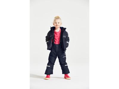 Didriksons Idde Kids Jacket - Vandtæt børnejakke m. for - Navy