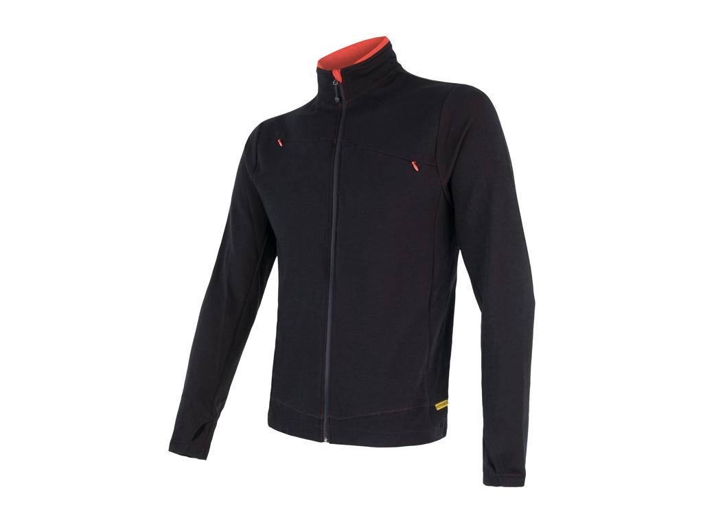 Sensor Merino Upper Fleece - Uldfleece jakke - Herre - Sort - Str. M thumbnail