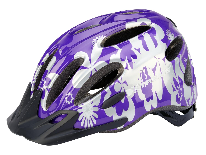Xtreme - X-City - Cykelhjelm - Str. 55-60 cm - Lilla/Sølv | Helmets