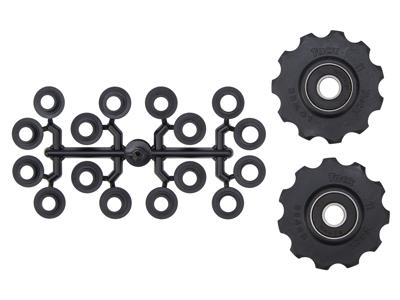 Tacx pulleyhjul med 11 tænder - Med maskinlejer - Sort