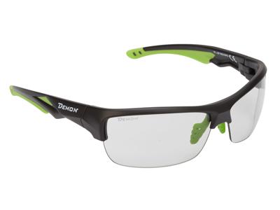 Demon Record DCHROM - Løbe- og cykelbrille med fotokromiske linser - Sort/grøn