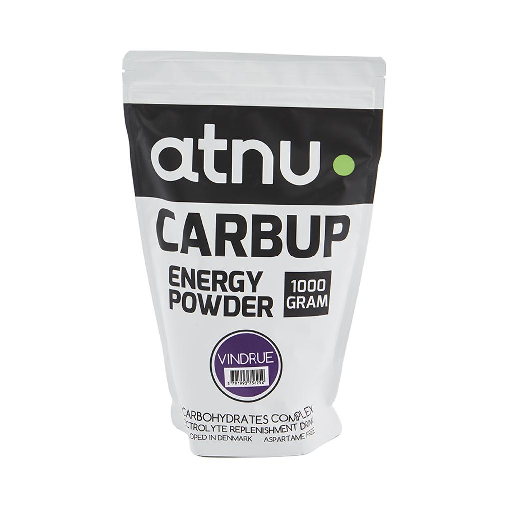 Atnu Carbup Energipulver - Vindrue - 1000 gram | Energy drinks
