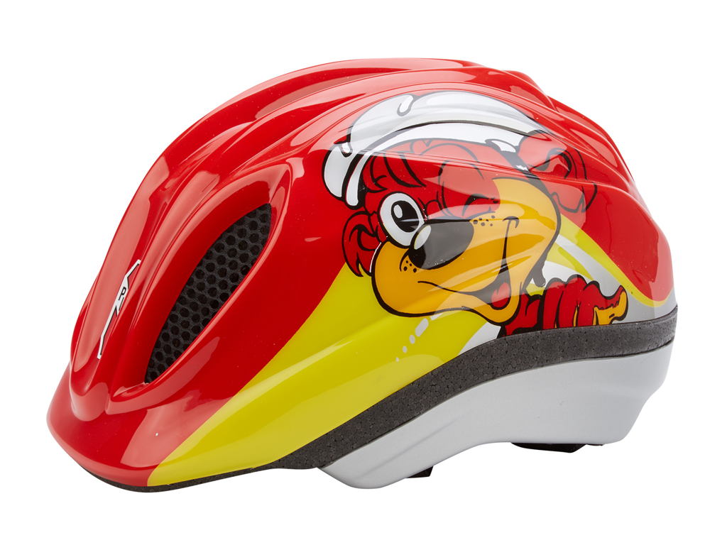 Cykelhjelm PUKY PH1 med LED blinklys Rød