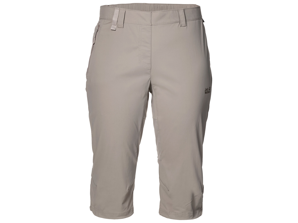Jack Wolfskin Activate Light 3/4 Shorts - Dame Str. 42 - Moon rock thumbnail