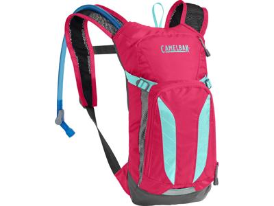 Camelbak Mini M.U.L.E. - Rygsæk 3L med 1,5 L vandreservior - Pink/Turkis-blå