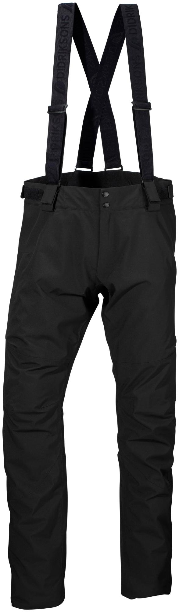 Didriksons Dale Mens Pants - Vandtæt herrebukser m. for - Sort | Trousers