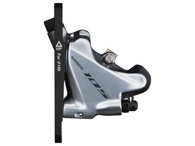 Shimano 105 - Bremsekaliber sølv front BR-R7070-F - Hydraulisk