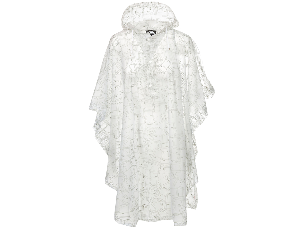 Trespass Festival - Poncho - Transparent med print