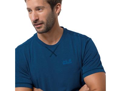 Jack Wolfskin Crosstrail T - T-Shirt - Herre - Mørkeblå
