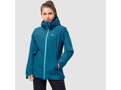 Jack Wolfskin Karelia Trail JKT Women - Vandtæt damejakke m. for - Blå
