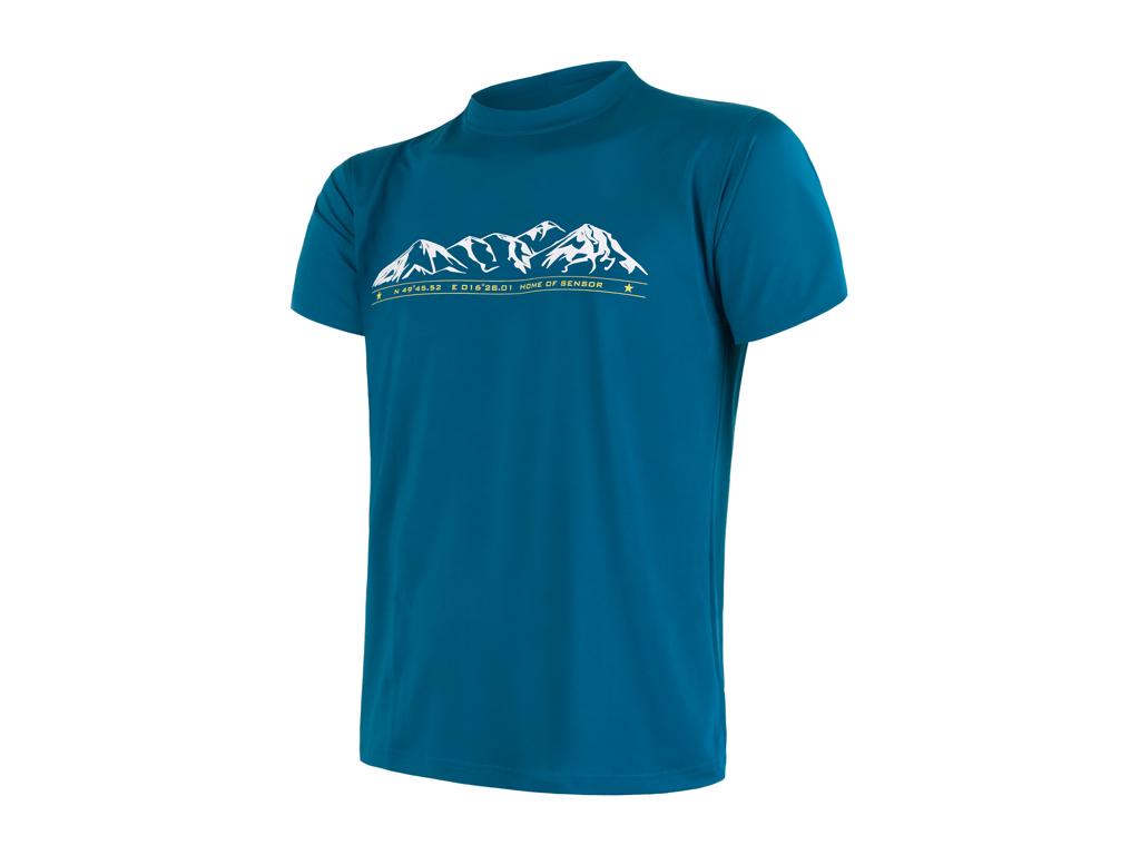 Sensor Coolmax Fresh PT Mountain - T-shirt med korte ærmer - Str. XL - Blå thumbnail
