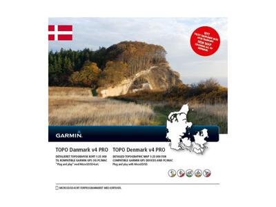 Garmin - v4 Pro - Topografisk karta - Danmark - MicroSD-kort