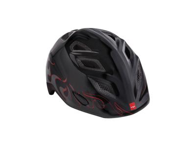MET Elfo/Genio - Cykelhjelm - Sort Flammer