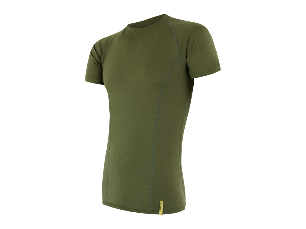 Image of   Sensor Merino Active - Uld T-shirt med korte ærmer - Herre - Grøn - Str. L