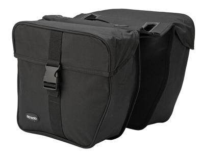 Atredo - Dubbel väska till E-bike - Till pakethållare - Elcykel - 25 Liter - Svart