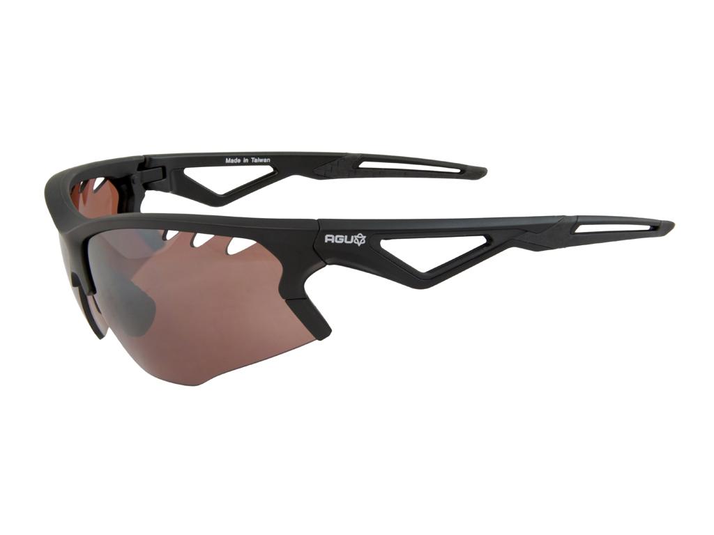 Image of   AGU Stark HD - Sports- og cykelbrille med 3 sæt linser - Sort