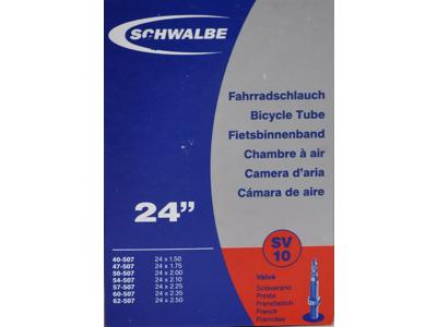 Schwalbe slange 24 x 1,75-2,50 med Racer ventil SV10