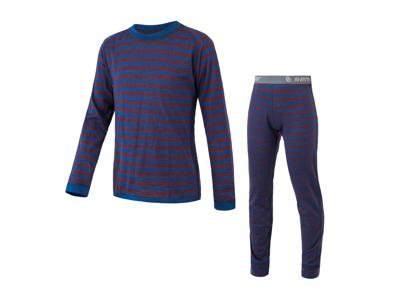 Sensor Merino Air Set JR - Skidunderkläder till barn - Merinoull - Blå och röd - Str. 120
