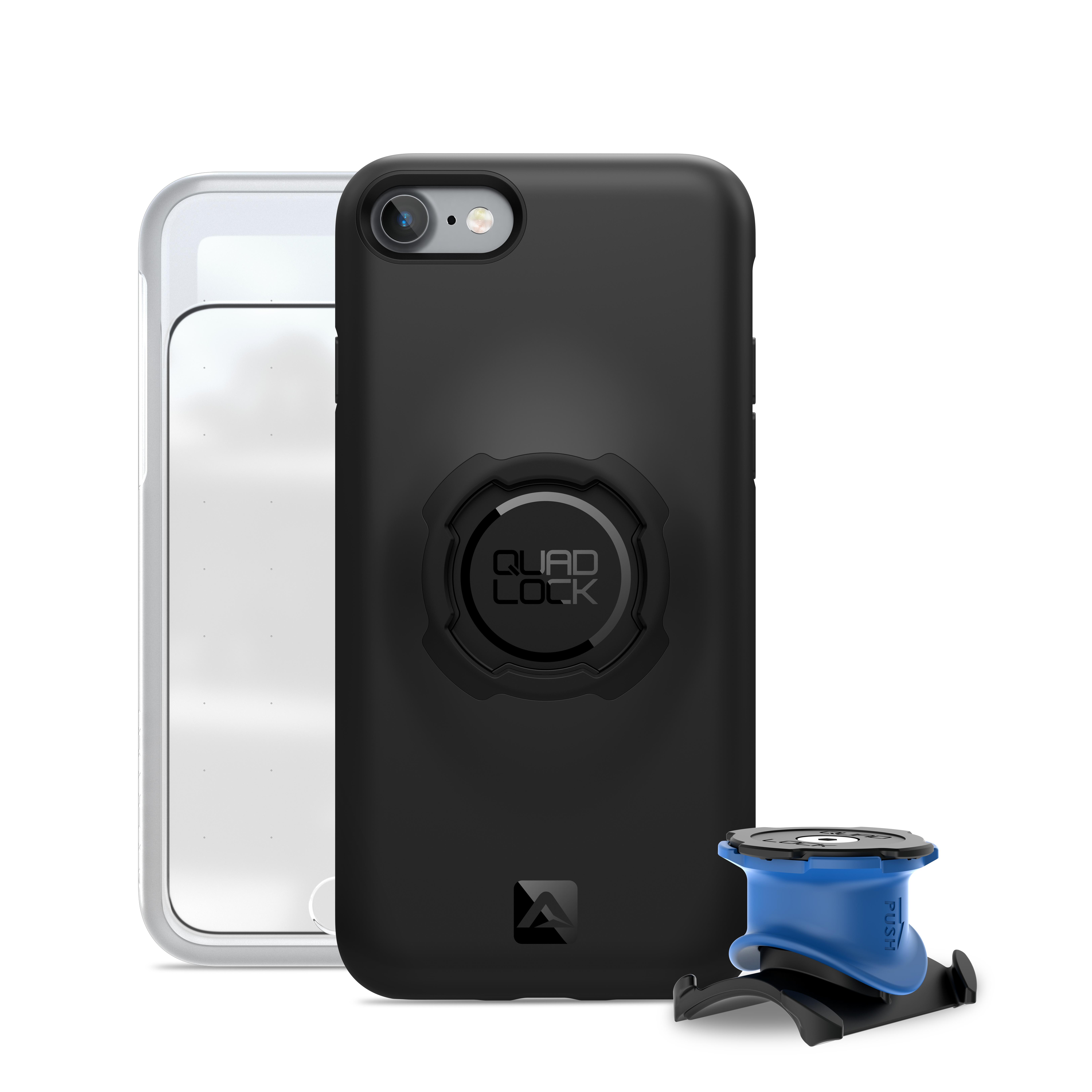 Quad Lock - Bike kit - Front og bagcover og beslag til styr/frempind - Til iPhone 7+ og 8+ | phone_mounts_component