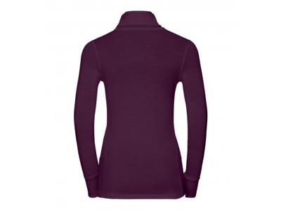 Odlo - Natural 100 Merino Shirt Turtle Neck - Dame - Blomme