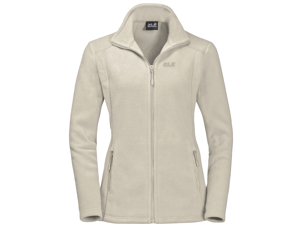Jack Wolfskin Midnight Moon Fleece jakke - Dame Str. XL - White sand thumbnail