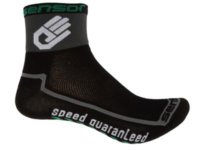 Sensor Race lite - Cykelstrumpor - Svart/grå