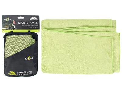 Trespass Wickerman - Hurtigtørrende bambusfiber håndklæde - Grøn - 60 x 120 cm.