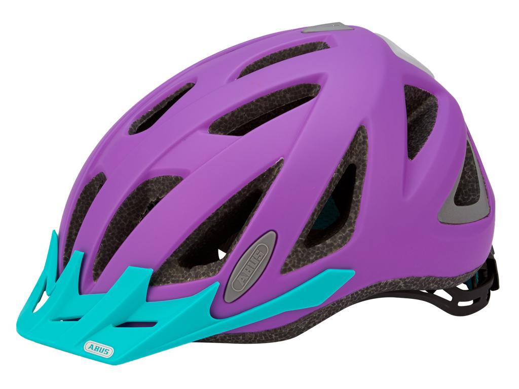 Abus Urban-I v.2 cykelhjälm - Str. 52-58 cm - Neon lila - Integrerad lykta