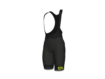 Alé Corsa Solid - Cykelbuks med seler og indlæg - Sort/Gul