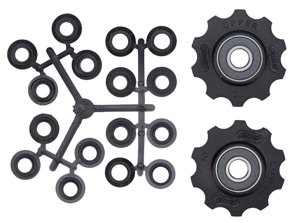 Image of   BBB pulleyhjul 10 tands med keramiske lejer - Rollerboys 2 stk