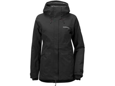 Didriksons Alta Womens Jacket - Vandtæt damejakke m. for - Sort