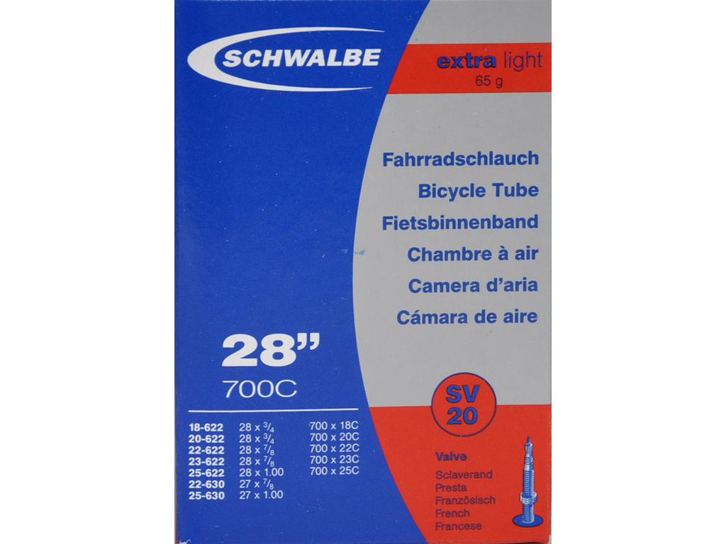 Schwalbe slange 700x18-25c X-Light med Racer ventil SV20 thumbnail