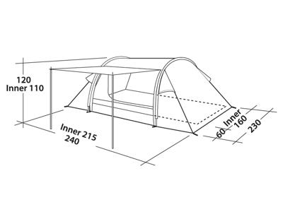 Easy Camp Cyrus 300 - Tält - 3 Personer - Grönt
