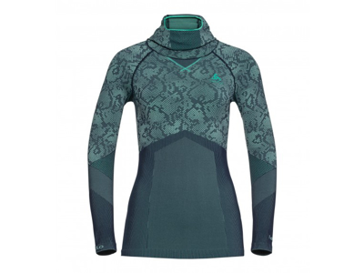 Odlo - Blackcomb Evolution Warm Shirt/Facemask - Dame - Mint
