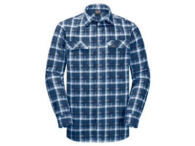 Jack Wolfskin Bow Valley Shirt - Skjorte herre - Tern Blå