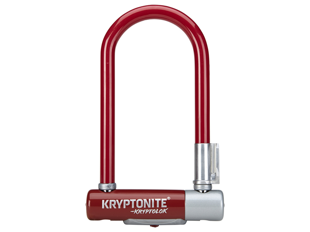 Image of   Kryptonite bøjlelås - Kryptolok 2 Mini 7 - U-Lock 8,2x17,8cm - Merlot