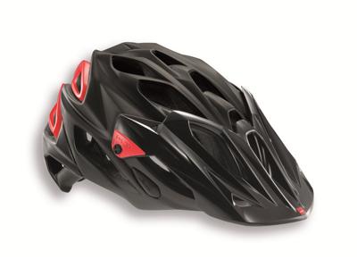 MET Parabellum cykelhjelm - Matsort/rød