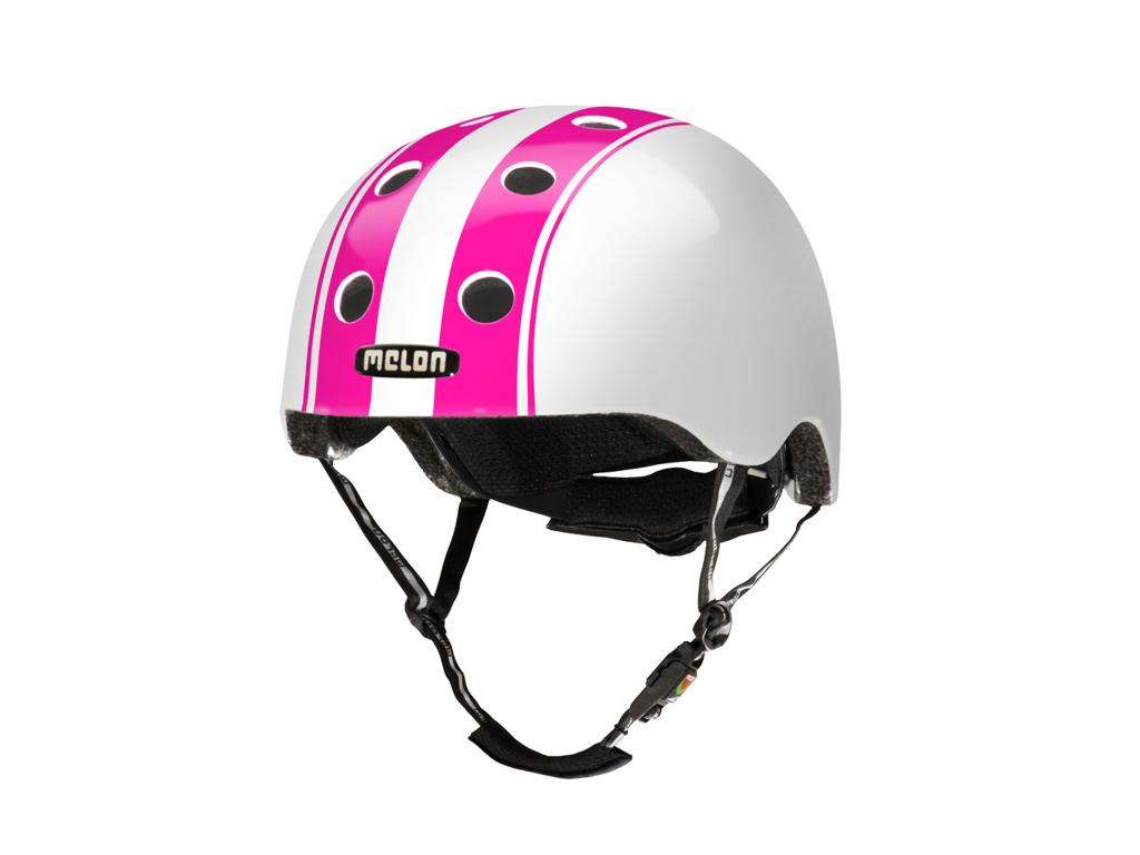 Melon Double - Cykelhjelm - Hvid/pink